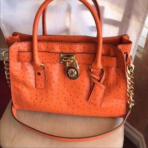 Michael Kors Authentic Hamilton Ostrich Bag